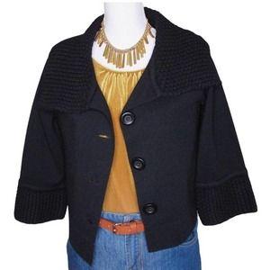 Cabi Cardigan Black Wool Knit Jackie O Style S